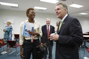Members talk to Governor McAuliffe at DAAR.