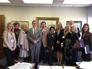 Members meet with Delegate Randy Minchew from Loudoun County.
