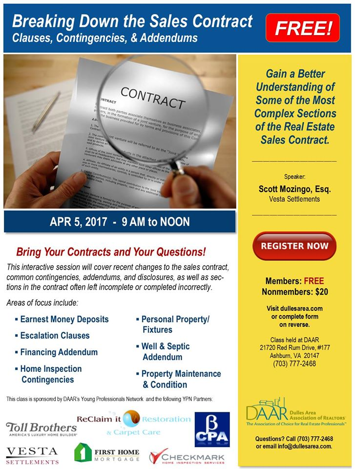 YPN Workshop: Breaking Down the Sales Contract – Wednesday, 4/5 Post Thumbnail
