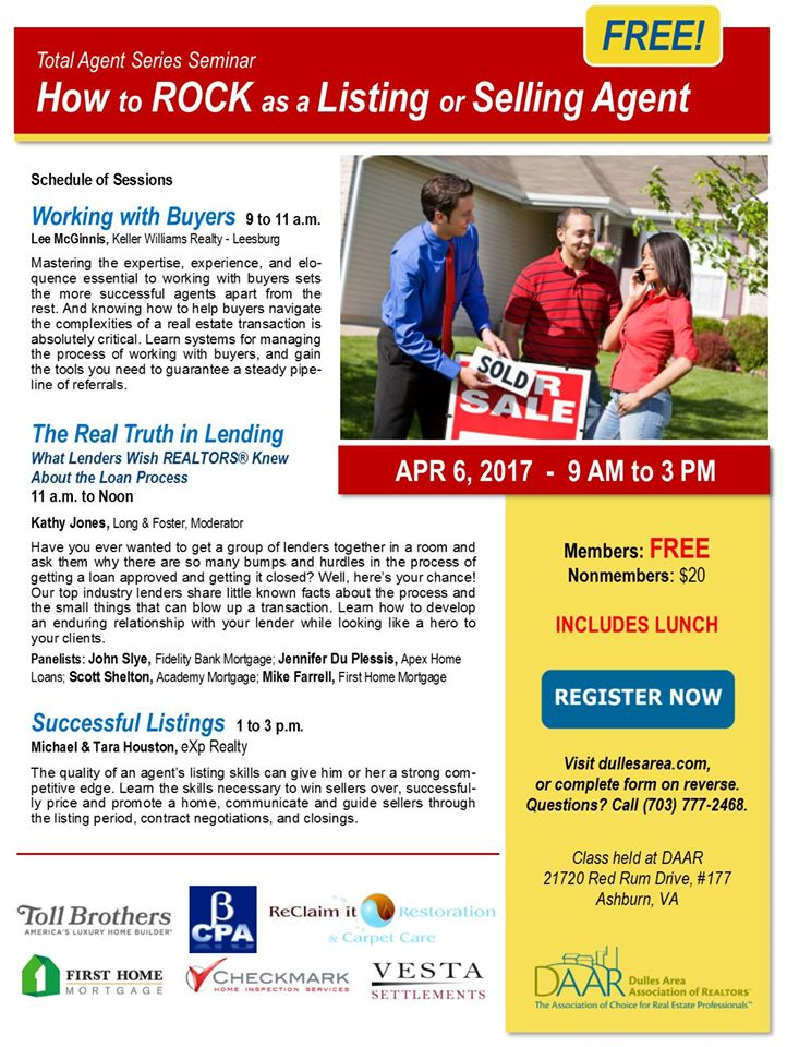 How to Rock as a Listing & Selling Agent Workshop – Thursday, 4/6 Post Thumbnail